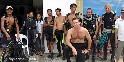 savedra dive center team